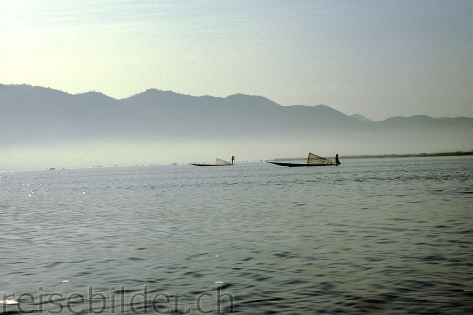 Fishing boats on th Inle Lake