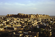 View of Jaisalmer and it's big Fort