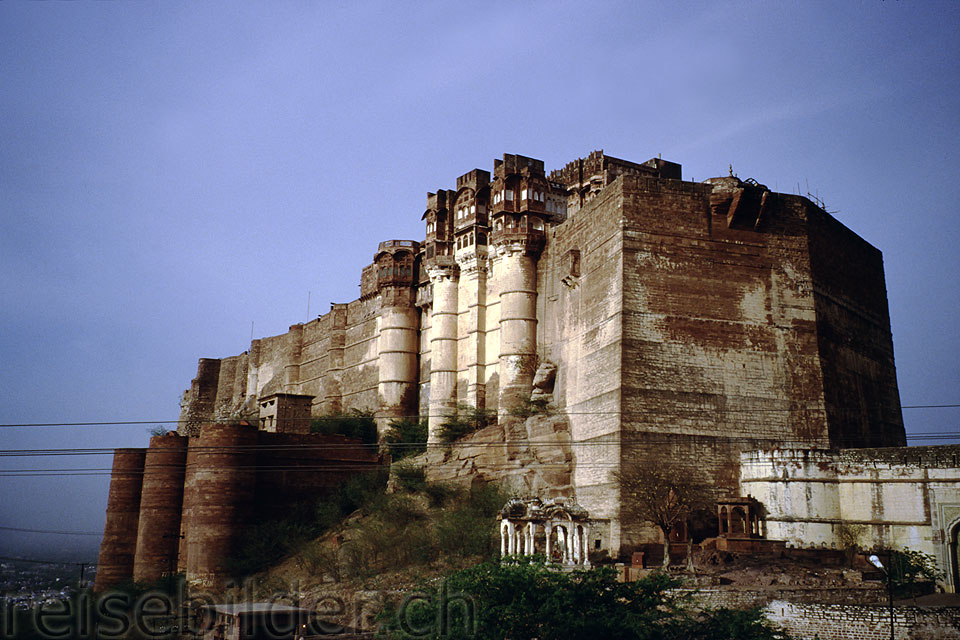 The impressive Meherangarh Fort in Jodhpur