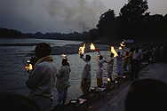 Celebration at the Ghat in Rishikesh