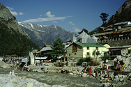 Gangotri, holy place at the Ganges' source (Alt 3000m)