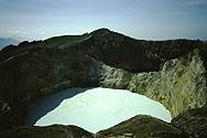 Two of the three lakes in the crater of Kelimutu volcano, Flores