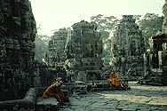 Angkor: monks in the Bayon