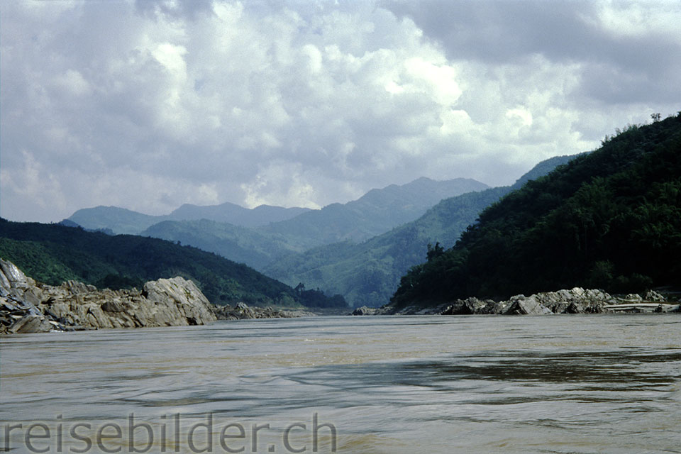 On the Mekong river in northern Laos