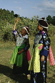 Hmong girls in traditional dress