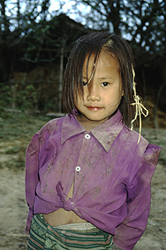 Hmong girl in the Plain of Jars