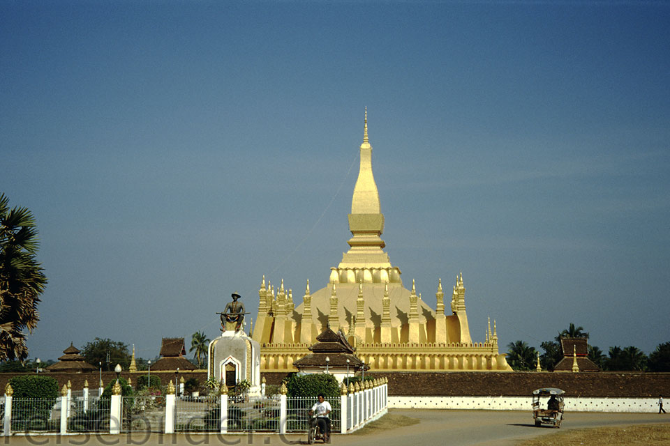 Pha That Luang, the national monument in Vientiane