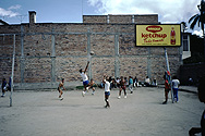 Volleyball in a backyard in Otavalo