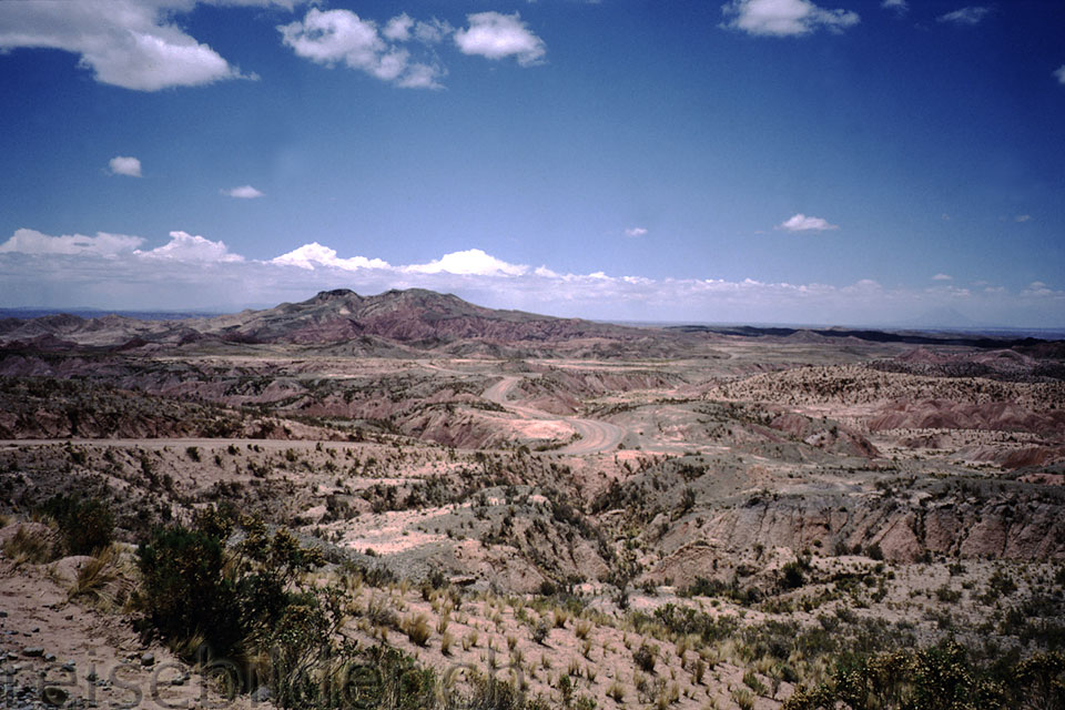 Landscape between La Paz and Tambo Quemado