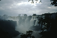 Iguazú Falls on the border to Brazil