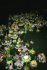 At the Loi Krathong festival in Bangkok