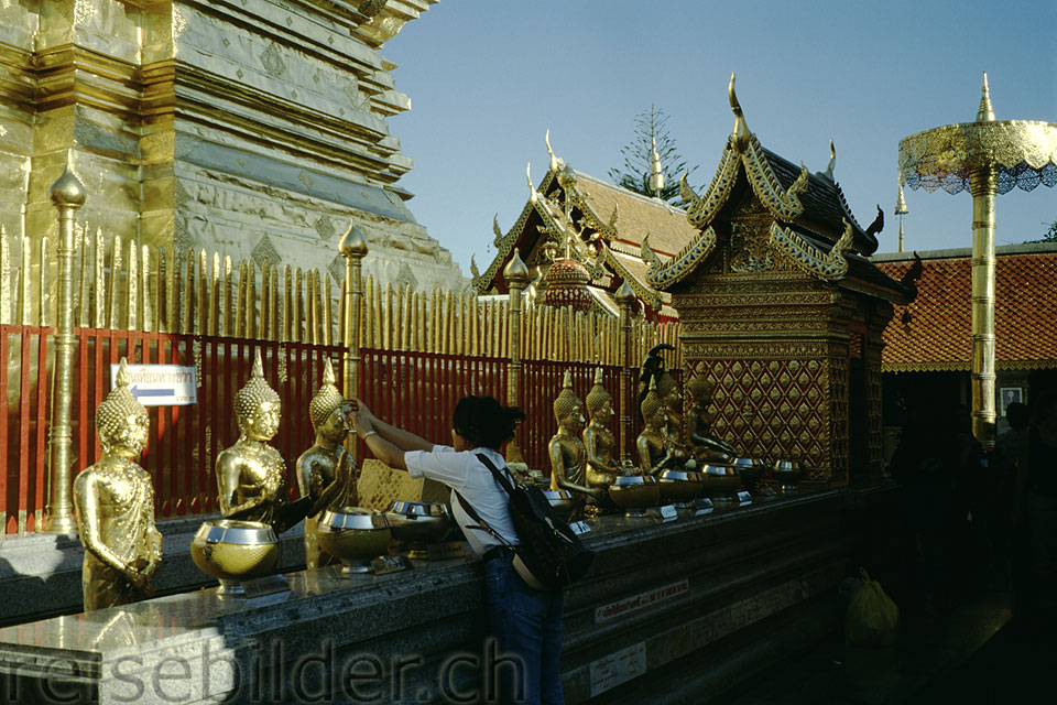 In Wat Doi Suthep above Chiang Mai
