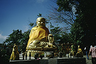 Buddha statue in Doi Tung Temple (northern Thailand)