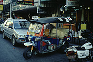 Tuk-Tuk (motorcycle taxi) on Khao San Road in Bangkok