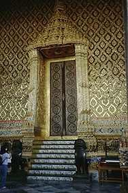 Gate at Wat Phra Kaew in Bangkok