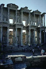 The library of Celsus in Ephesos