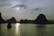 In the Halong Bay in North Vietnam