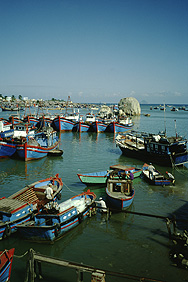 Boats in the Cai River in Nha Trang