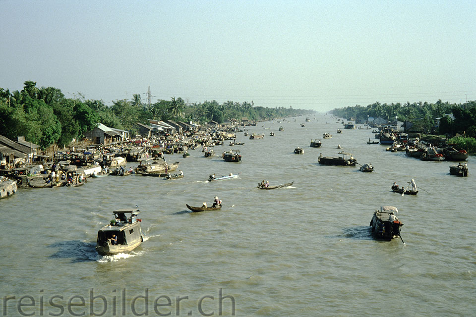 River traffic near Can Tho in the Mekong Delta