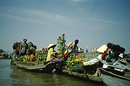 Floating market in the Mekong Delta